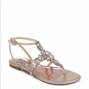 NWT Badgley Mischka Hampden Crystal Sandal